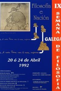 IX Semana Galega de Filosofía